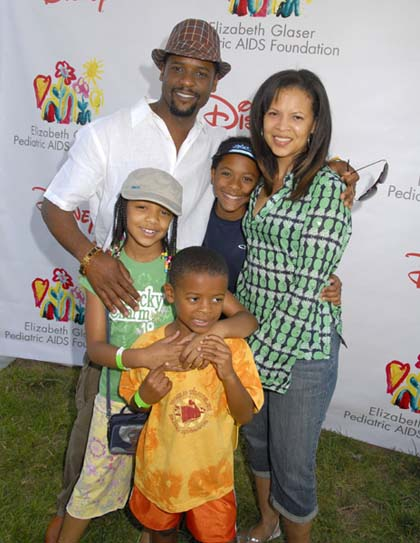 "Actor Blair Underwood (L) and family attend the 19th Annual ""A T"