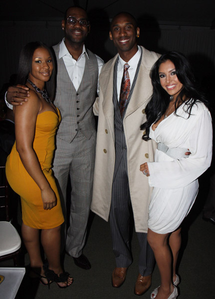 "(L-R) Savannah Brinson, Lebron James, Kobe Bryant and Vanessa Bryant attend Sprite's 3rd Annual Jay-Z And Lebron James ""Two Kings"" Dinner & After Party"