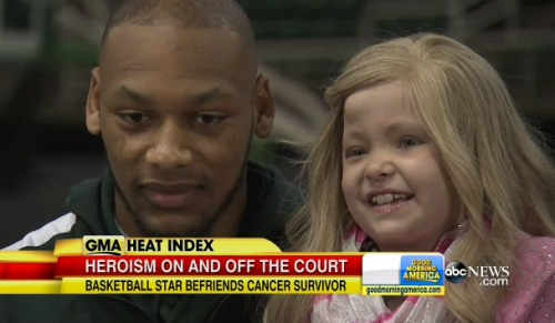 Adreian_Payne-befriends-cancer-patient-video