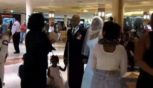Lasheba and Thomas Cunningham-wedding-mall-video1