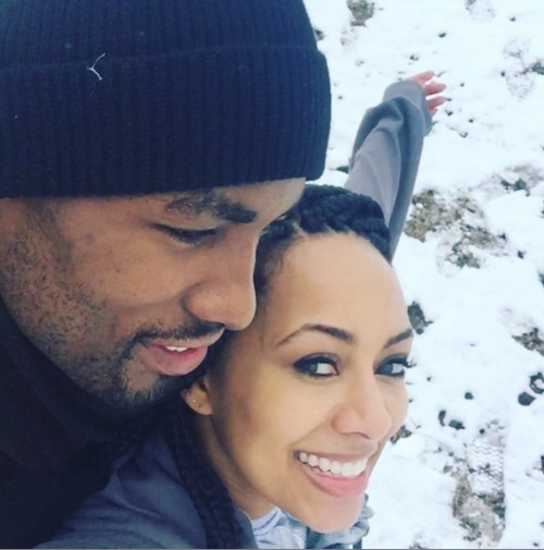 serge-ibaka-keri-hilson-playing-snow