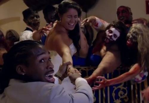DeAngelo-Williams-wife-Risalyn-Walking-Dead-wedding-day-video-