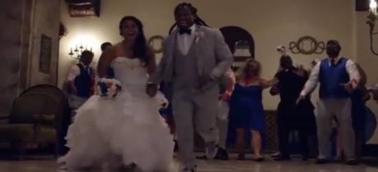DeAngelo Williams And Wife Risalyn Have A 'Walking Dead' Themed Wedding! (Video)