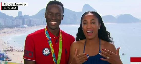 Congratulations: Will Claye Proposes To Girlfriend Queen Harrison After Winning Silver Medal At The 2016 Olympics (Video)
