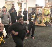 Look Who's Back: Lil Terio Resurfaces And Dances In Pittsburgh Steelers Locker Room (Video)