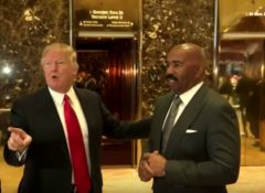 Steve Harvey Speaks Out After Receiving Backlash For Meeting And Cooning With Donald Trump! (Video)
