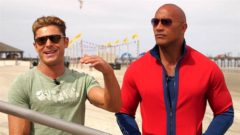 Behind-The-Scenes: Dwayne 'The Rock' Johnson And  Zac Efron On The Set Of 'Baywatch' Reboot (Video)