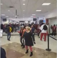 Watch: Atlanta Falcons Fans Get Into An Airport Wide Dance Off While Headed To The SuperBowl 51! (Video)