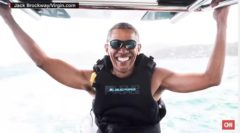 He Deserves It: Barack Obama Goes Kitesurfing With Richard Branson  While On Vacation! (Watch)