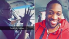 "Watch: Uber Driver Goes Wild After Picking Up Dwyane Wade: ""You Are The Man!"" (Video)"