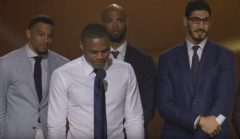 Russell Westbrook Gives An Emotional Speech Thanking His Wife, Family And Teammates After Winning 2017 NBA MVP Award! (Video)