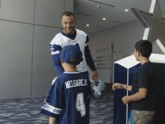 NFL Star Dak Prescott Meets One Of His Biggest Fans! (Video)