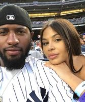 NBA Star Paul George And His Daughter's Mother Daniela Rajic Spotted At New York Yankees Game (Photos)
