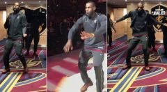 "Watch: Lebron James Gets Hyped And ""Wobbles With It"" Before A Game! (Video)"
