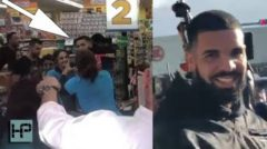 Paying It Forward: Drake Buys $50,000 Worth Of Groceries For All The Shoppers At Supermarket! (Video)