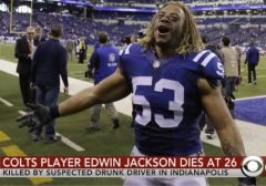 So Sad: NFL Star Edwin Jackson Killed By Suspected Drunk Driver In Indianapolis! (Video)