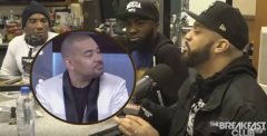 Watch: DJ Envy Confronts Guest Desus & Mero Over A Joke They Made About His Wife Gia Casey! (Video)