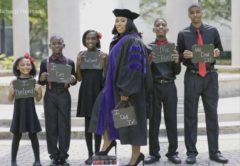 Inspiring: Former Homeless Mother Of Five Kids Graduates From Law School (Video)
