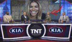 Kenny Smith's Wife Gwendolyn Surprises Him Live On 'Inside The NBA' (Video)