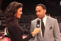 Watch: Stephen A. Smith 'Shoots His Shot' At Reporter Brhitney Decamps (Video)
