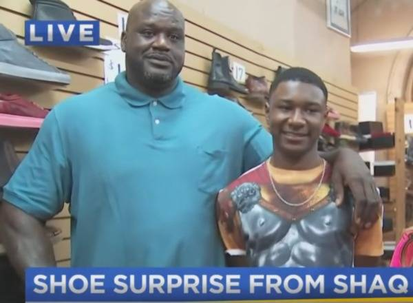 Shaquille O'Neal Buys 10 Pairs Of Shoes For Georgia Teen With Size 18 Feet (Video)